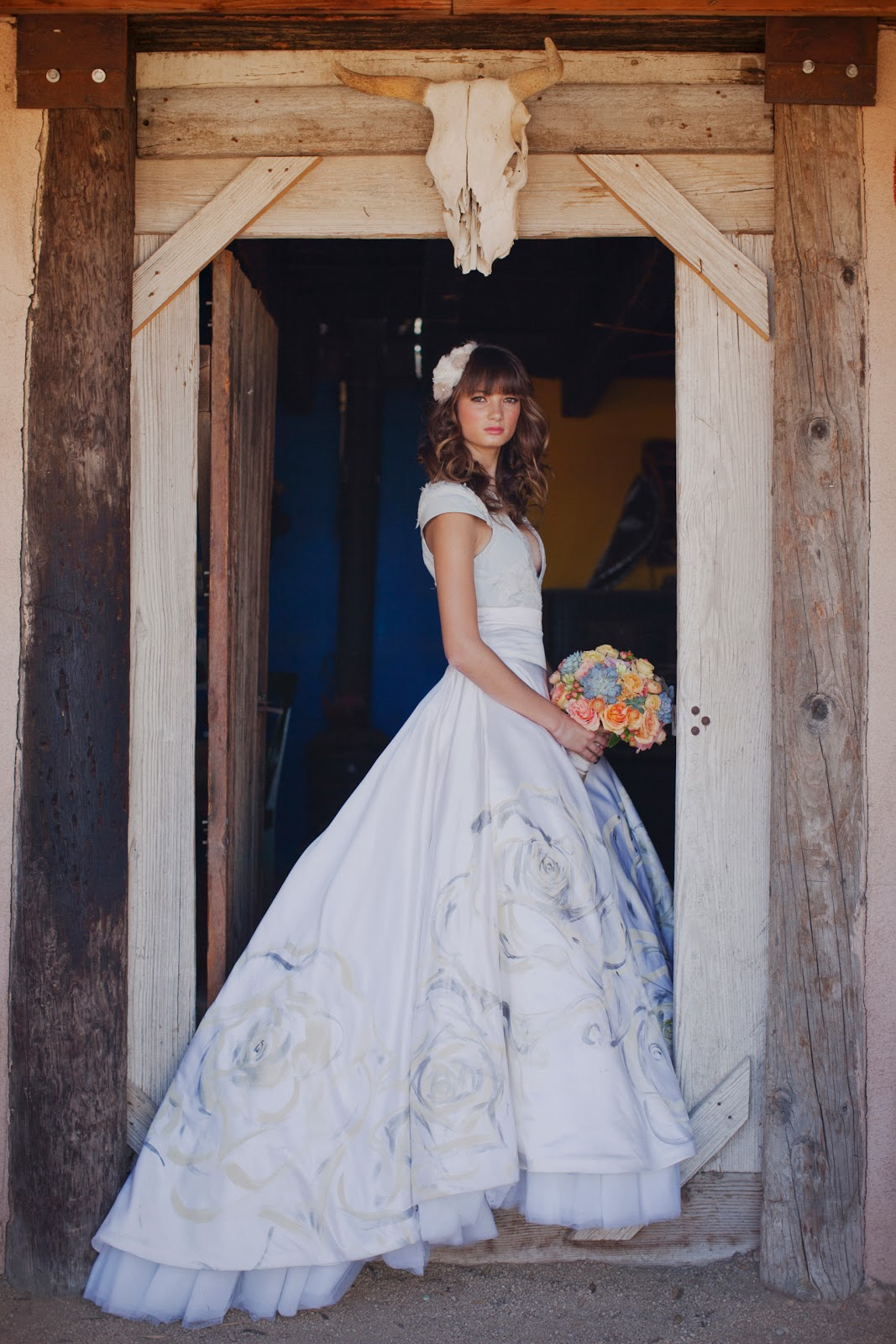 spanish bridal fashion with mexican mexican wedding dress Spanish Bridal Fashion with Mexican Wedding Inspiration Papel Picado and Succulents