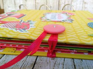 χειροποίητο βιβλιο, mini album, summer