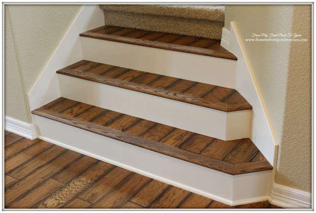 Farmhouse Style-Stair- Renovation-Oak-Flooring-Verticel Design-From My Front Porch To Yours
