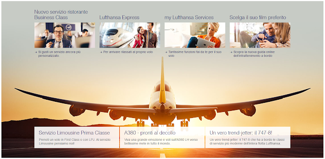 Parti con Lufthansa per Europa o resto del Mondo!