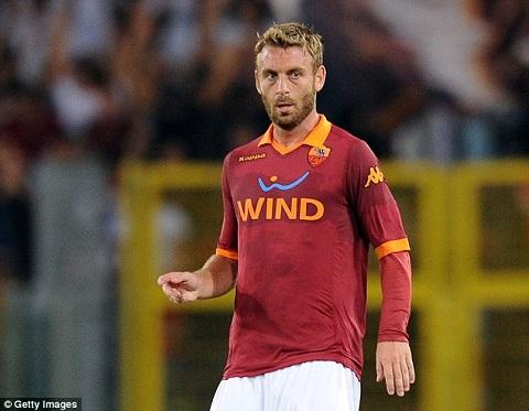 Tiền vệ De Rossi tuy còn rất trẻ nhưng đã mang dáng dấp giống các đàn anh.