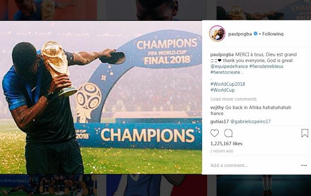 """Antarkan Prancis Juara Dunia, Haji Pogba: """"Tuhan Maha Besar"""""""