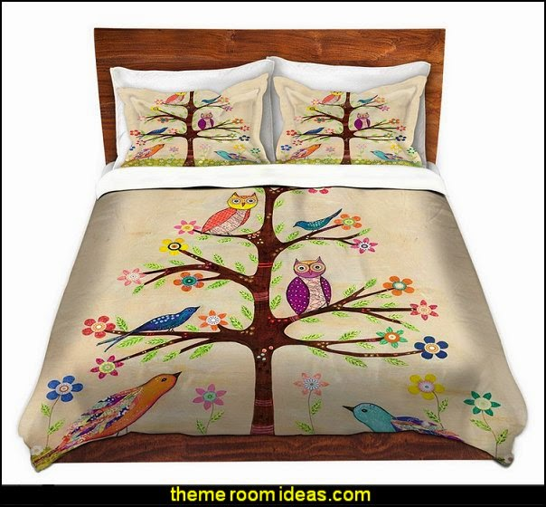 DiaNoche Designs by Sascalia Unique, Cool, Fun, Funky, Artistic, Designer, Stylish Home Decor and Bedroom Ideas - Owl Bird Tree 2