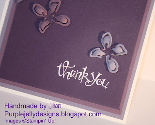 Stampin' Up! Botanical Builder dies white heat embossing power elegant eggplant wisteria wonder perfect plum