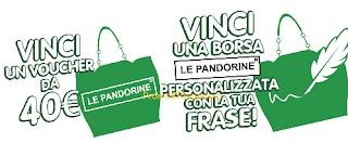 Logo Dietorelle: vinci gratis voucher da 40 euro e borse Le Pandorine