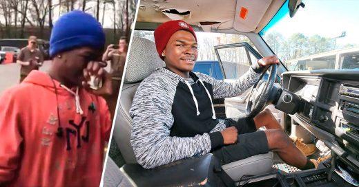 Compañeros de trabajo sorprenden a este chico y le regalan un auto