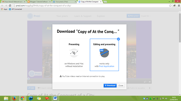 cara mendownload tema prezi