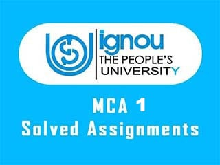 IGNOU MCA 1 Semester Solved Assignments Download