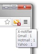 X-notifier avisa sobre novas mensagens