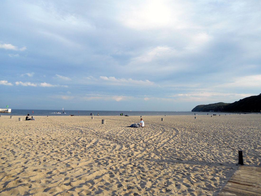 Spiaggia a Gdynia