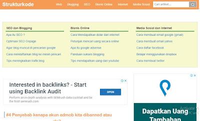 Situs Belajar Ngeblog strukturkode