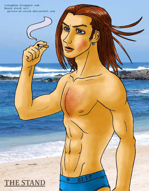 Larry at the beach