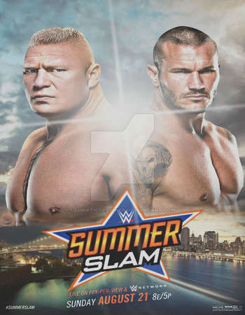 Poster Of WWE SummerSlam 21st August 2016 PPV 950MB WEBRip 480p x264 Free Download Watch Online Worldfree4u