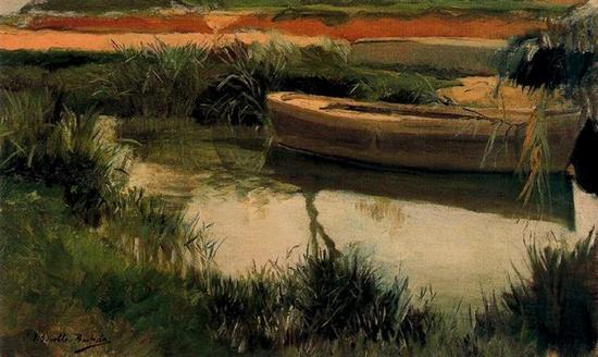 Sorolla, Barca en la Albufera, 1908