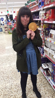 My friend, Xina at Tesco.