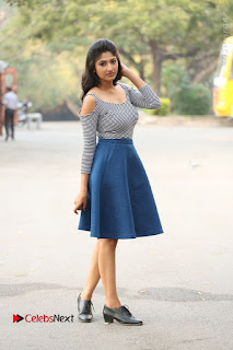 Telugu Actress Roshini Prakash Stills Short Dress at Saptagiri Express Release Press Meet  0272.JPG