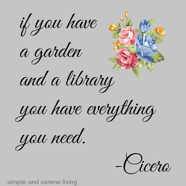 Cicero quote garden kibrary
