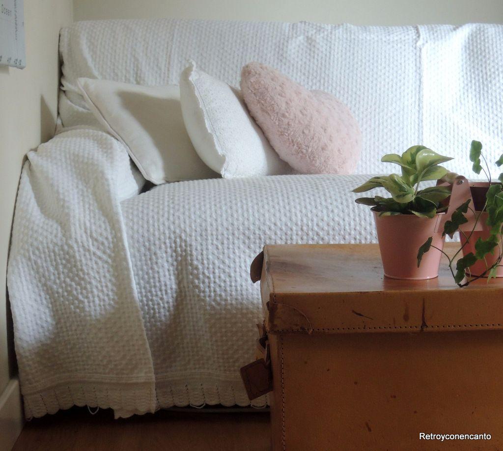 Retro y con encanto colchas para el sof - Telas rusticas para sofas ...