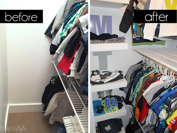 Days of the week closet organization