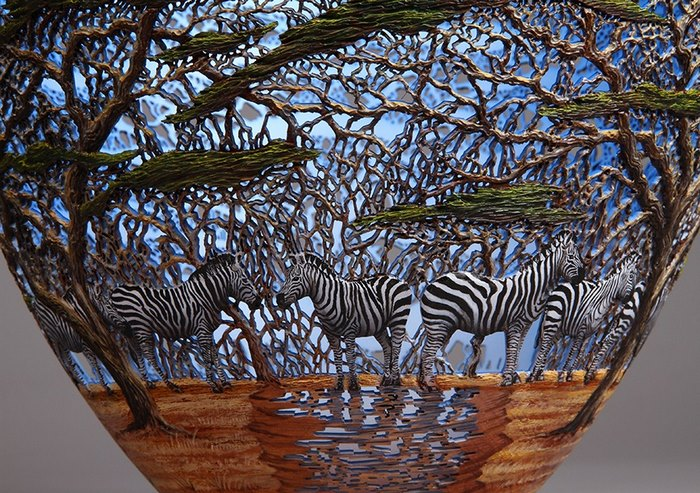 22 Hand-Carved Sophisticated Pictures Of Local Nature On Wood