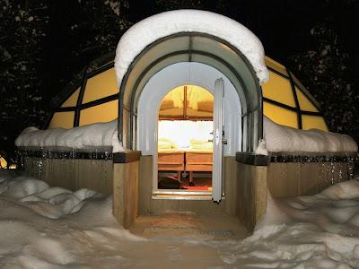 Penginapan Unik di salju : MATA DUNIA