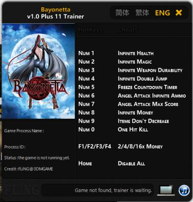 Trainer Cheat Game PC Bayonetta