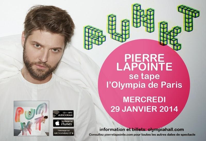 Pierre Lapointe à l'Olympia de Paris le 29 janvier 2014