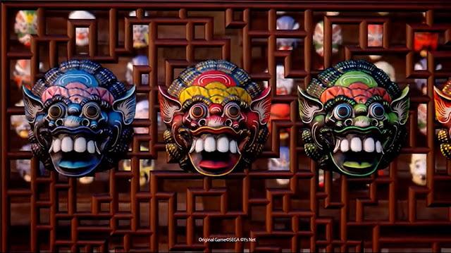 Masks on display in Choubu