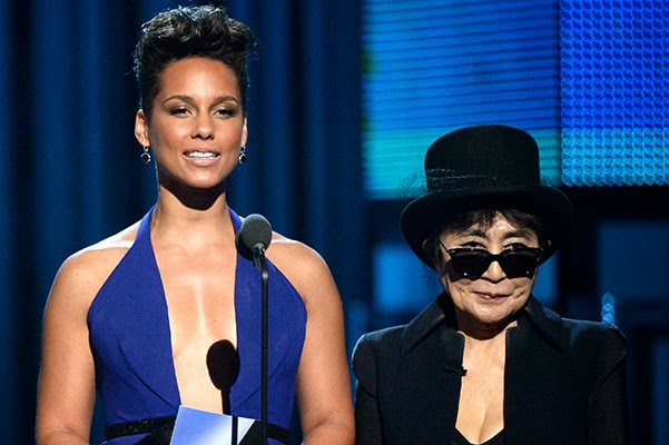 Alicia Keys and Yoko Ono Grammy Awards 2014