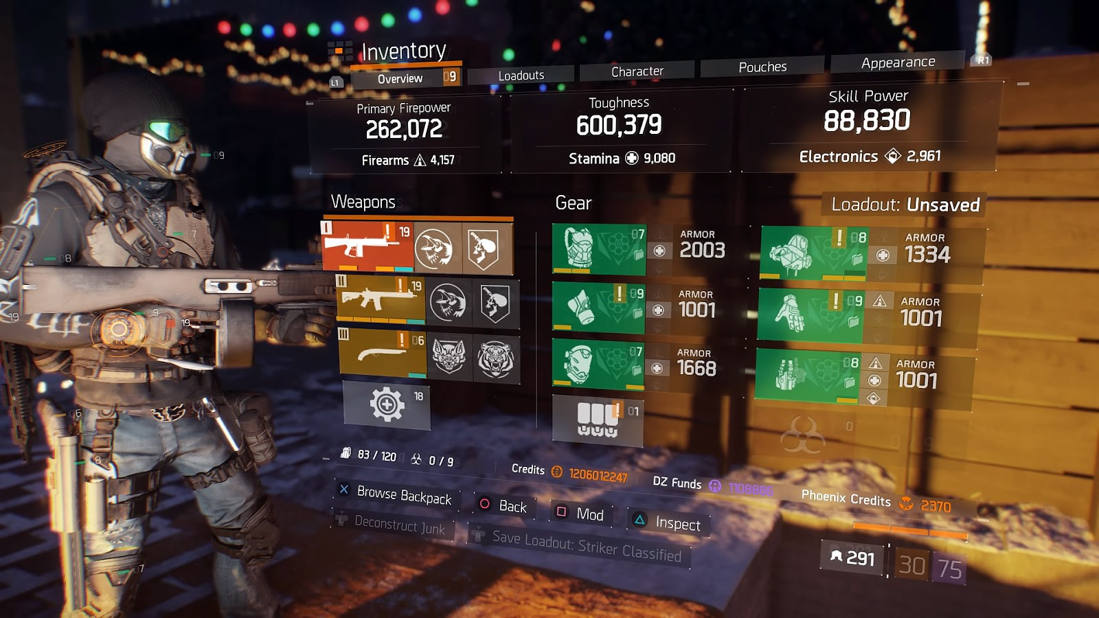 The Division 1 8 2 Striker 9k Classified Build