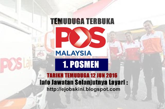 Temuduga Terbuka Posmen di Pos Malaysia Berhad