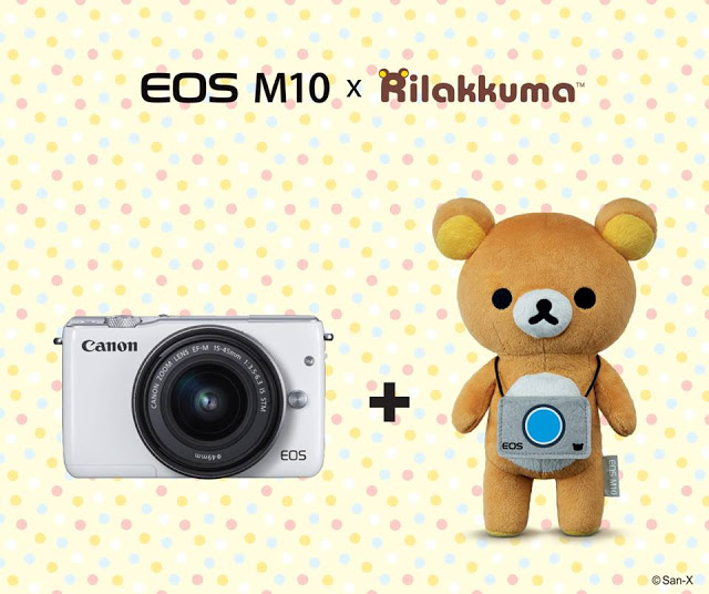 Rilakkuma and Canon camera