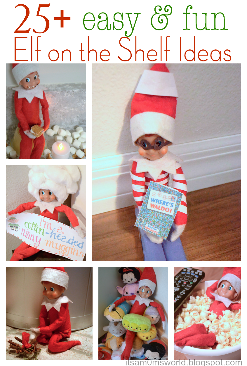 25 Fun And Easy Diy Pom Pom Crafts To Make: It's A Mom's World: 25+ Easy & Fun Elf On The Shelf Ideas