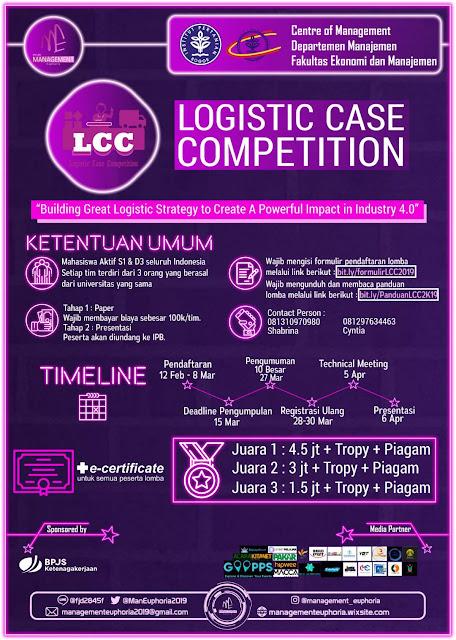 Lomba Bidang Produksi Logistic Case Competition Nasional 2019 Mahasiswa