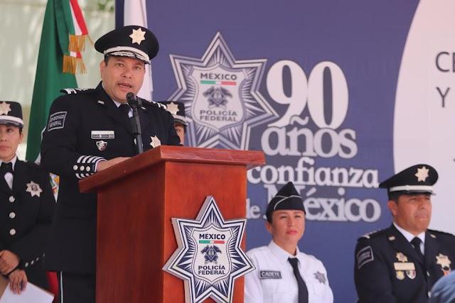 SE GRADÚA LA PRIMERA GENERACIÓN DE NUEVOS POLICÍAS FEDERALES CON GRADO DE TÉCNICO SUPERIOR UNIVERSITARIO
