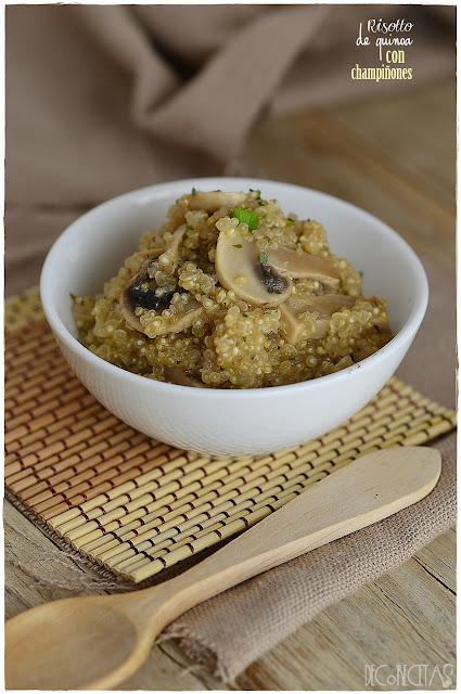Risotto de quinoa con champiñones