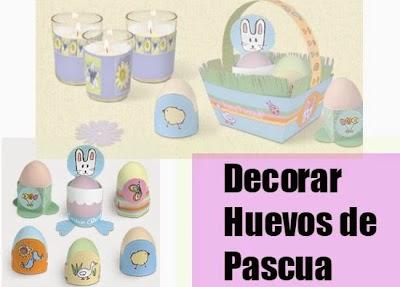Decora Huevos de Pascua de Papel. Imprimir.Plantillas