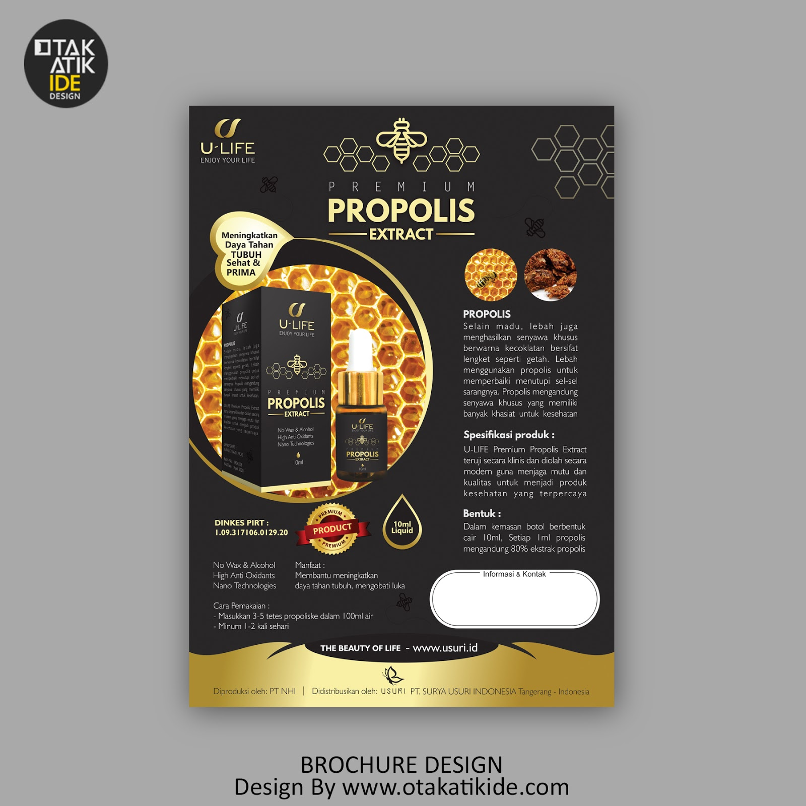 Jasa Desain Brosur Promosi Otakatikide Branding Design Consultant