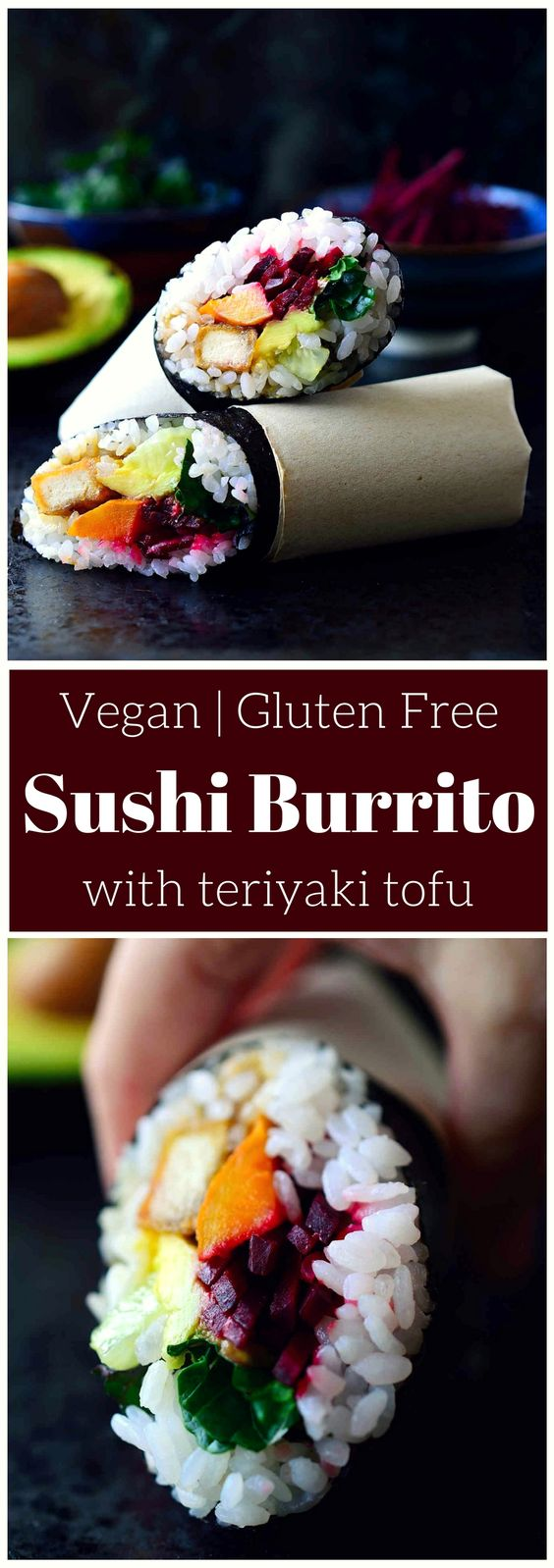 Teriyaki Tofu Sushi Burrito Recipe