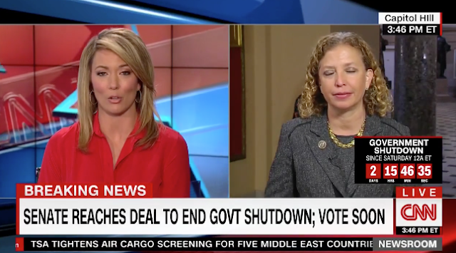 CNN's Brook Baldwin Asks Wasserman Schultz What Was The Point Of The Shutdown — Her Answer Is Stunning