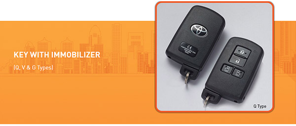 Key dengan Immobalizer Toyota All New Sienta di Indonesia