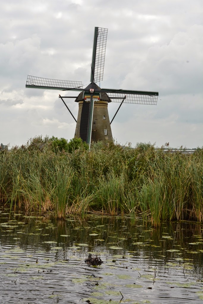 Kinderdijk river windmill