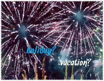 vacation holiday american british