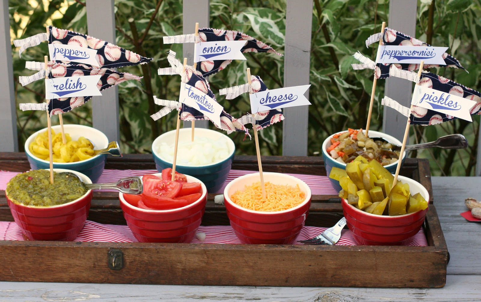Baseball Birthday Party Hot Dog Bar