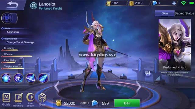 Script Skin Lancelot Starlight Full Efek Mobile Legends