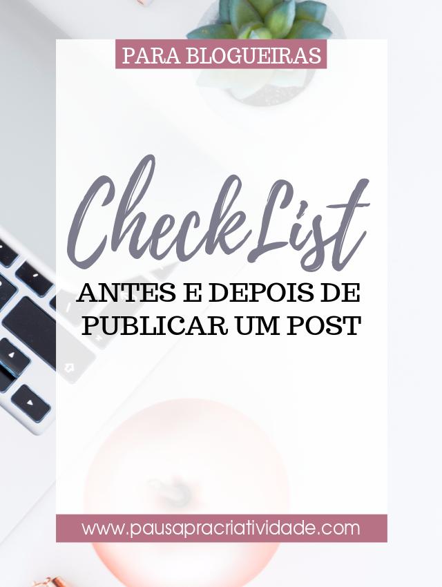 Checklist o que fazer antes e depois de publicar um post no blog