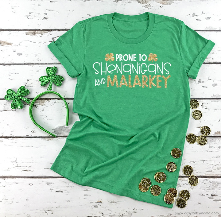 Shenanigans & Malarkey St. Patrick's Day Shirt with Free Cut File