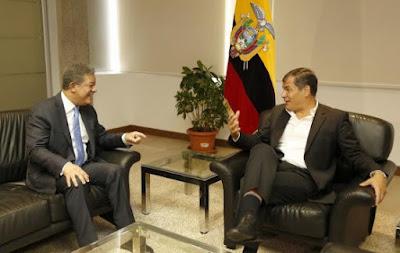 Leonel Fernández expresa solidaridad con Rafael Correa