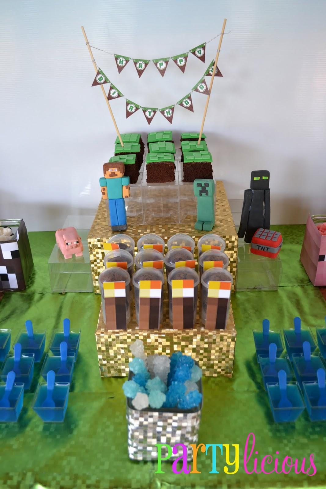 Partylicious Events Pr Minecraft Birthday Party