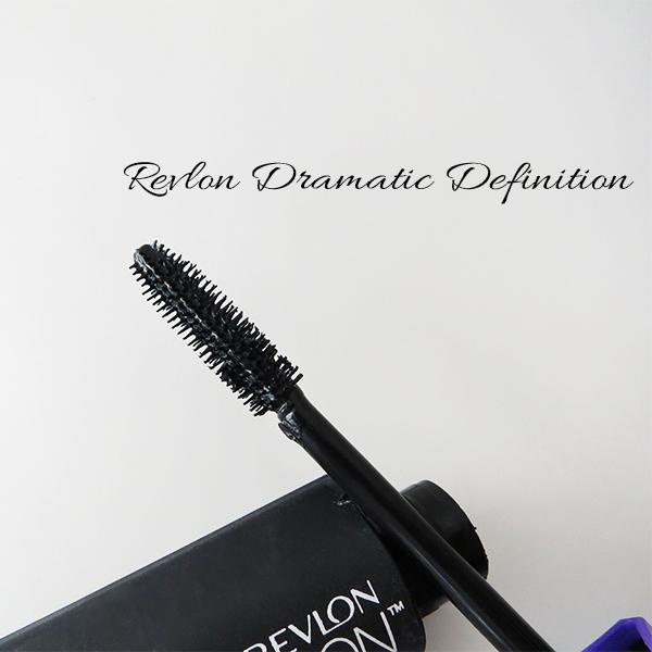 Close-up of the brush on Revlon Dramatic Definition Mascara